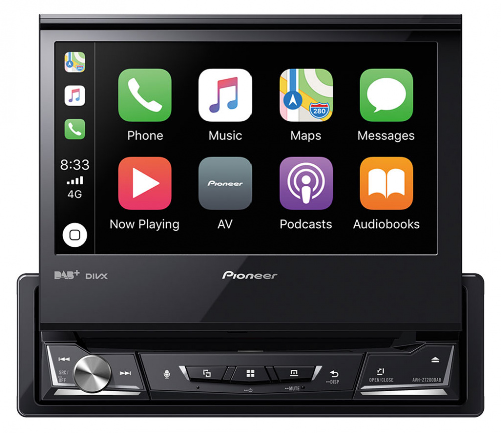 Pioneer AVHZ7200DAB, 1 DIN spiller med 7 skjerm, DAB+, DVD
